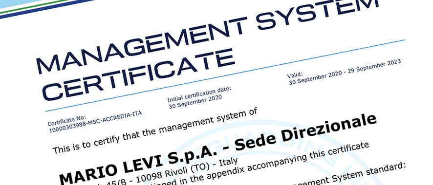 The new ISO 14001 certification